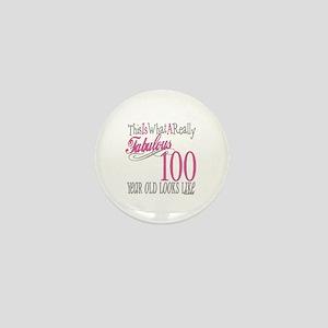 100th Birthday Gift Mini Button