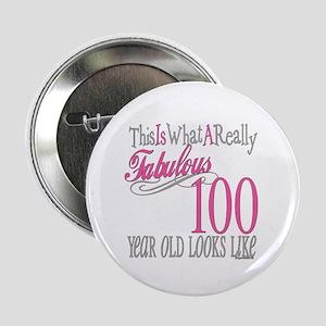 "100th Birthday Gift 2.25"" Button"