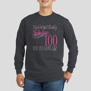100th Birthday Gift Long Sleeve Dark T-Shirt