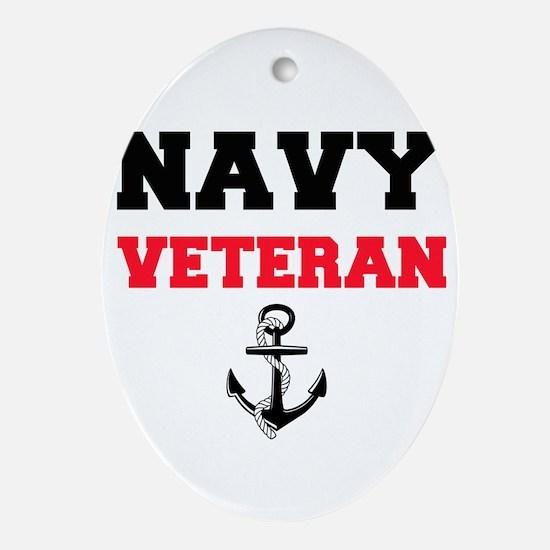 Navy Veteran Oval Ornament