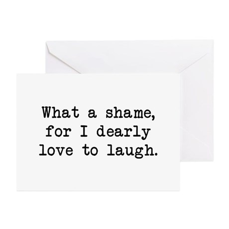 Dearly Love to Laugh Greeting Cards (Pk of 10)