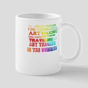 Art Teacher in the Summer Rainbow Colorful Mugs