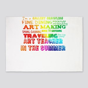 Art Teacher in the Summer Rainbow C 5'x7'Area Rug