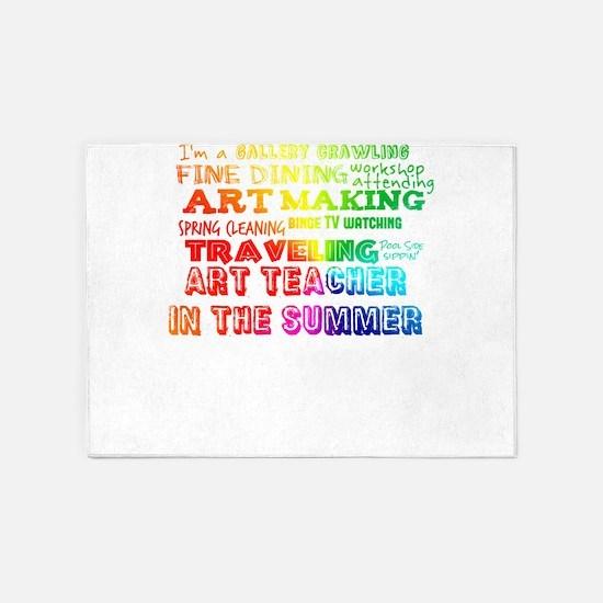 Art Teacher in the Summer Rainbow C 5'x7'Area Rug