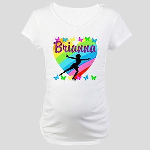 CUSTOM SKATER Maternity T-Shirt