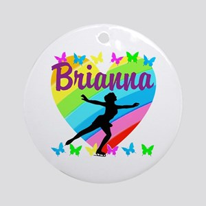 CUSTOM SKATER Round Ornament