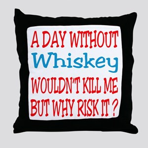 A day without Whiskey Throw Pillow