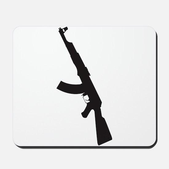 AK47 gun silhouette Mousepad