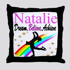 CUSTOM SKATER Throw Pillow