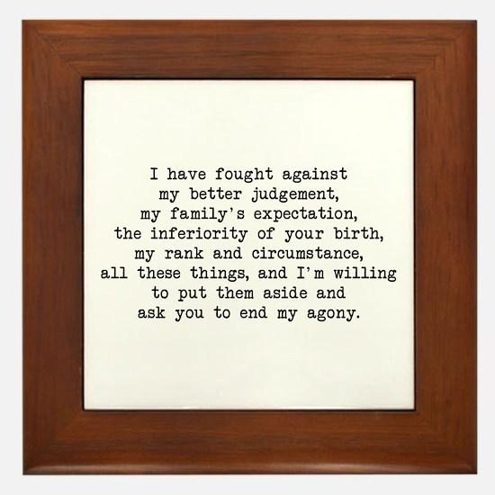 Fought Against Judgement - Darcy Framed Tile