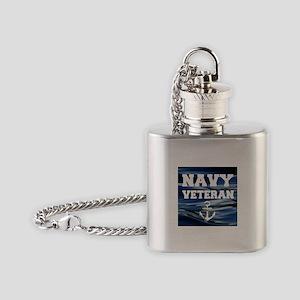 Navy Veteran Flask Necklace