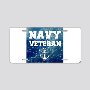 Navy Veteran Aluminum License Plate