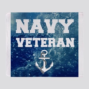 Navy Veteran Throw Blanket