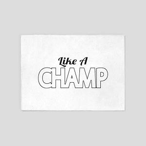 Like A Champ 5'x7'Area Rug