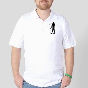 God of ancient Egypt Anubis Golf Shirt