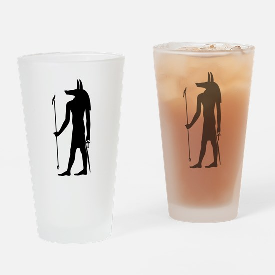 God of ancient Egypt Anubis Drinking Glass