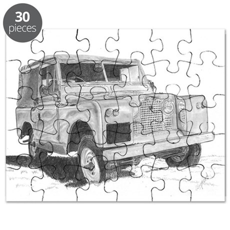 Land Rover Series 2 by Lea Sapsford Puzzle by HamtunscireArt