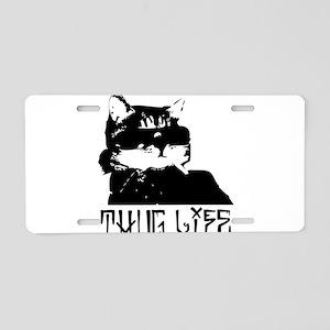 Cat Thug Life Aluminum License Plate