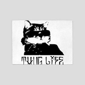 Cat Thug Life 5'x7'Area Rug