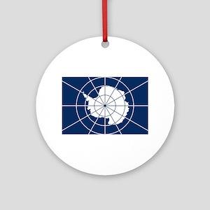 Flag of Antarctica Round Ornament