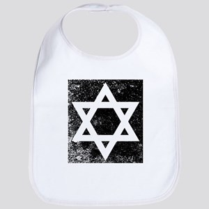 Star of David Half Tone Bib