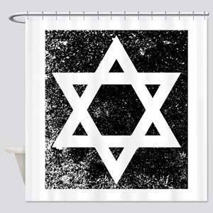 Star of David Half Tone Shower Curtain