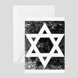 Star of David Half Tone Greeting Cards