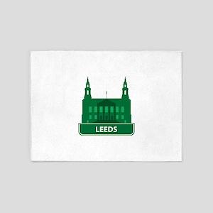 National landmark Leeds silhouette 5'x7'Area Rug