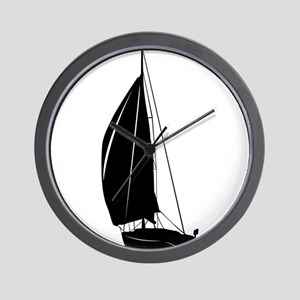 Sailboat silhouette art Wall Clock