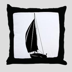 Sailboat silhouette art Throw Pillow