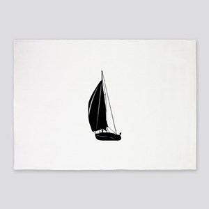 Sailboat silhouette art 5'x7'Area Rug