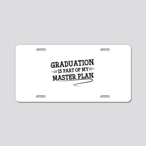 Part Of My Master Plan Aluminum License Plate