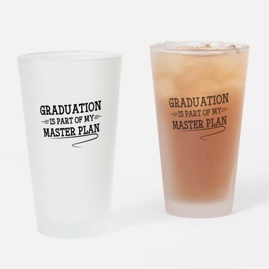 Part Of My Master Plan Drinking Glass