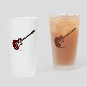 Isolated Rock Guitar Drinking Glass