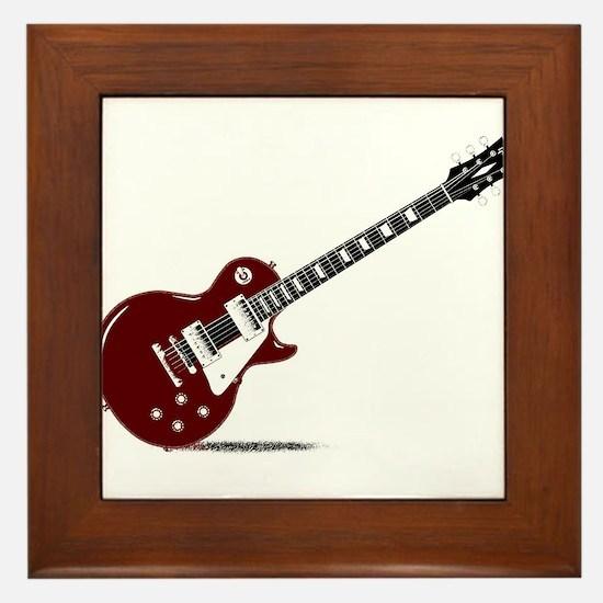 Isolated Rock Guitar Framed Tile