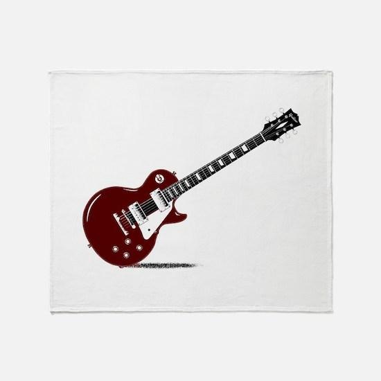 Isolated Rock Guitar Throw Blanket