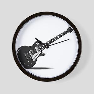 Half Tone Electric Guitar Wall Clock