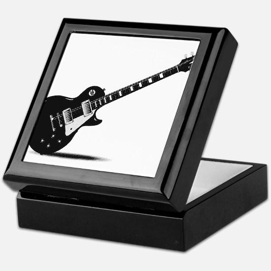 Half Tone Electric Guitar Keepsake Box