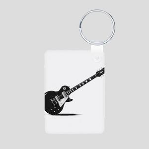 Half Tone Electric Guitar Keychains