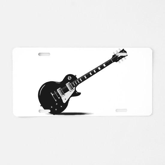 Half Tone Electric Guitar Aluminum License Plate
