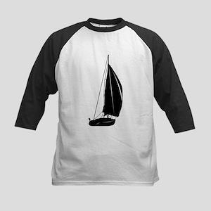 Sailboat silhouette art Baseball Jersey