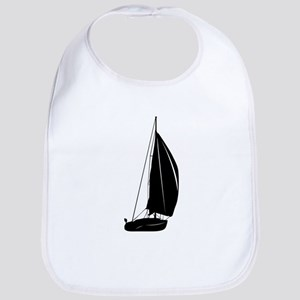 Sailboat silhouette art Bib