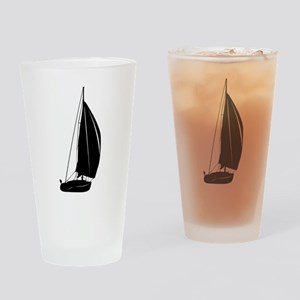 Sailboat silhouette art Drinking Glass