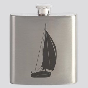 Sailboat silhouette art Flask