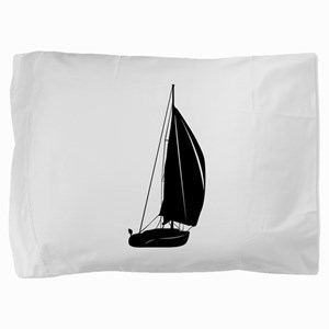 Sailboat silhouette art Pillow Sham