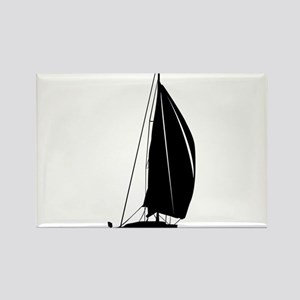 Sailboat silhouette art Magnets