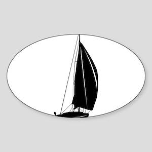 Sailboat silhouette art Sticker