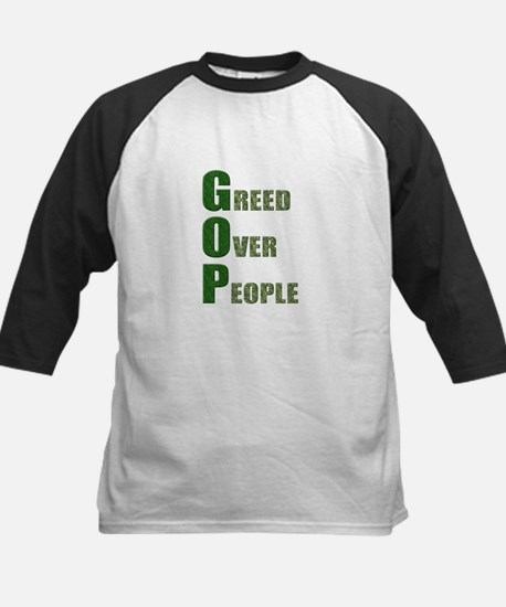Greed Over People Kids Baseball Jersey