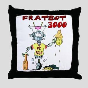 Fratbot 3000 Throw Pillow