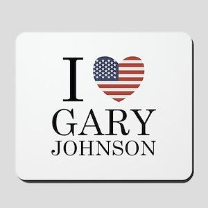 I Love Gary Johnson Mousepad